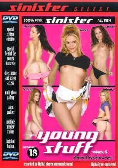 "Adult entertainment movie ""Young Stuff 5"" starring Scarlet, Juliana Kincaid & No Name Jane. Produced by Sin City."