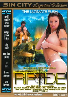 "Adult entertainment movie ""Riptide"" starring Kaylani Lei, Karina Kean & April Flowers. Produced by Sin City."