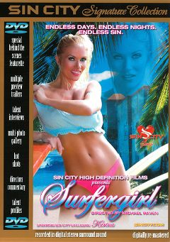 "Adult entertainment movie ""Surfergirl"" starring Alexis Malone, Pat Myne & Asia Carrera. Produced by Sin City."