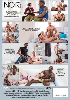 Gay Adult Movie Black On White 3 - back box cover