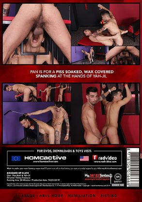 Gay Adult Movie Roughed Up Slave - back box cover