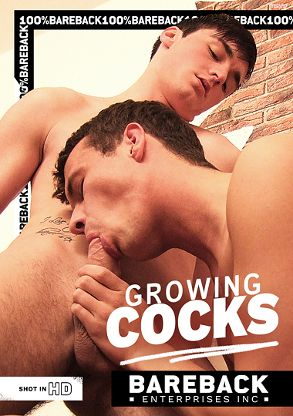 Gay Adult Movie Growing Cocks - front box cover