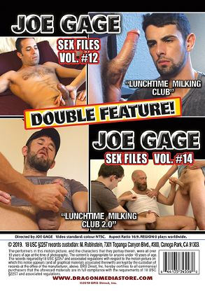 Gay Adult Movie Joe Gage Double Feature: Sex Files 12 And Sex Files 14 - back box cover