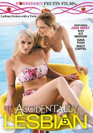 "Just Added presents the adult entertainment movie ""Accidentally Lesbian 5""."