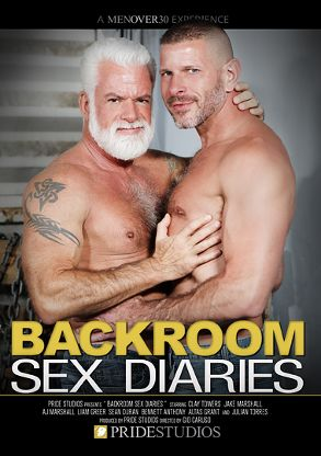 Gay Adult Movie Backroom Sex Diaries - front box cover