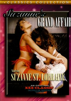 "Adult entertainment movie ""Suzanne's Grand Affair"" starring Suzanne St. Lorraine, Cindy Labare & Dino (amvc). Produced by Cal Vista Classic."