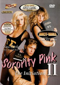 "Adult entertainment movie ""Sorority Pink 2"" starring Tianna, Sharon Kane & Nina Hartley. Produced by Cal Vista Classic."