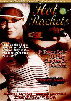"Adult entertainment movie ""Hot Rackets"" starring Candida Royalle, Desiree Cousteau & Rhonda Jo Petty. Produced by Cal Vista Classic."