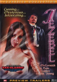 "Adult entertainment movie ""Jezebel"" starring Susan Young, Rick Lutze & Henry Woods. Produced by Cal Vista Classic."