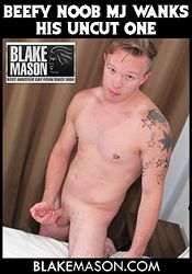 Gay Adult Movie Beefy Noob MJ Wanks His Uncut One