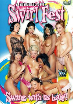 "Adult entertainment movie ""Lesbian Swirl Fest"" starring Kenya, Holly Hollywood & Kitten. Produced by Pure Filth Productions."