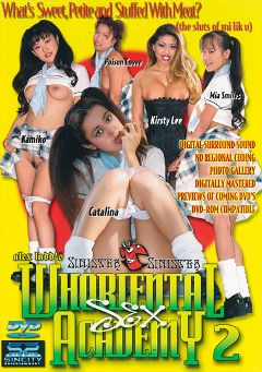 "Adult entertainment movie ""Whoriental Sex Academy 2"" starring Catalina, Poison Envee & Mia Smiles. Produced by Sin City."