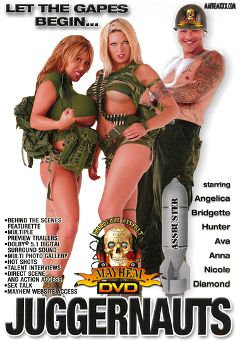 "Adult entertainment movie ""Juggernauts"" starring Victoria Spencer, Diamond & Anna Mills. Produced by Mayhem XXX."