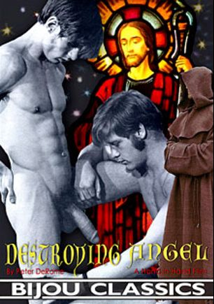 The Destroying Angel, starring Billy Young, Gian Paolo, Rufus Michaels, Billy White, Glenn Middleton, Alain Monceau, Evan De Braye, Paul Eden, Thom Aaron, Philip Darden, Timothy Kent and Rick Scott, produced by Bijou Gay Classics.