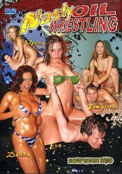 "Adult entertainment movie ""Nasty Oil Wrestling"" starring Temptress, Sonya Redd & Venus Milan. Produced by Heatwave Entertainment."