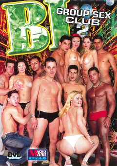 "Adult entertainment movie ""Bi Group Sex Club 2"". Produced by Macho Man Video."