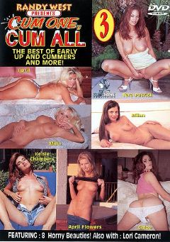 "Adult entertainment movie ""Cum One Cum All 3"" starring Milan (II), April & April Flowers. Produced by New Machine."