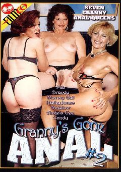"Adult entertainment movie ""Granny's Gone Anal 2"" starring Brandy Hare, Angela Cee & Candy Cooze. Produced by Filmco."