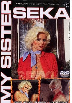 "Adult entertainment movie ""My Sister Seka"" starring Seka, Sarah Sheldon & Mick South. Produced by Caballero Video."