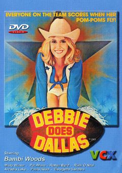 "Adult entertainment movie ""Debbie Does Dallas"" starring Bambi Woods, Peter Lerman & Debbie Lewis. Produced by VCX Home Of The Classics."