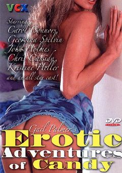 "Adult entertainment movie ""Gail Palmer's Erotic Adventures of Candy"" starring Carol Connors, Robbi Robinson & John Timothy. Produced by VCX Home Of The Classics."