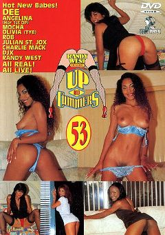 "Adult entertainment movie ""Up And Cummers 53"" starring Angelina, Tye & Mocha. Produced by New Machine."