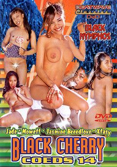 "Adult entertainment movie ""Black Cherry Coeds 14"" starring Jasmine Breedlove, Xtasy & Jade. Produced by Heatwave Classics."