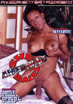 "Adult entertainment movie ""American Shemales"" starring Neffertiti, Vo D'Balm & Collet. Produced by Vico Distributions."