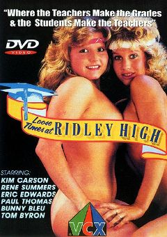 "Adult entertainment movie ""Loose Times At Ridley High"" starring Jade Nichols, Rene Summers & Velma Brown. Produced by VCX Home Of The Classics."
