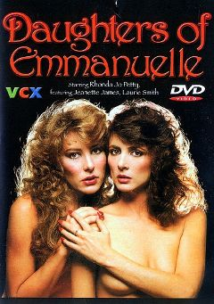 "Adult entertainment movie ""Daughters Of Emmanuelle"" starring Linda Shaw, Rhonda Jo Petty & Doug Rossi. Produced by VCX Home Of The Classics."