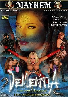 "Adult entertainment movie ""Dementia"" starring Aurora Snow, Marco Banderas & Vanessa Lane. Produced by Sin City."