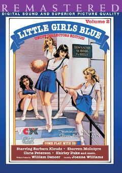 "Adult entertainment movie ""Little Girls Blue 2"" starring Kathleen Kristel, Barbara Cloud & Lori Blue. Produced by VCX Home Of The Classics."