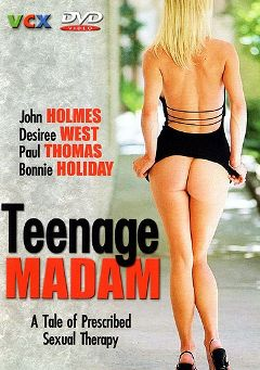 "Adult entertainment movie ""Teenage Madam"" starring Bonnie Holiday, Bill 'Head' Clover & Kathy Marsh. Produced by VCX Home Of The Classics."