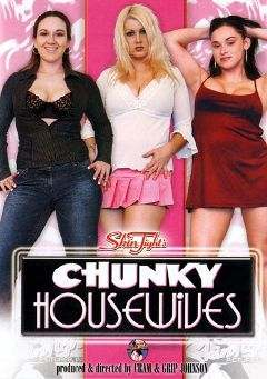 "Adult entertainment movie ""Skin Tight's Chunky Housewives"" starring Zenova Braenden, Lucki Chatsworth & Roxy Blaze. Produced by Legend."