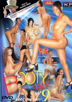 "Adult entertainment movie ""Booty Talk 9"" starring Cherry, Carmel Lover & Vanessa. Produced by West Coast Productions."