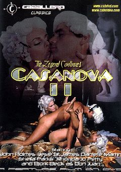 "Adult entertainment movie ""Casanova 2"" starring Danielle Martin, Jessie St. James & Maria Pia (f). Produced by Caballero Video."