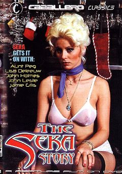 "Adult entertainment movie ""The Seka Story"" starring Seka, Aunt Peg & Juliet Anderson. Produced by Caballero Video."