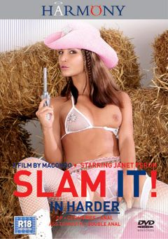 "Adult entertainment movie ""Slam It In Harder"" starring Janet Peron, Mya Diamond & Jamie Brooks. Produced by Harmony Films Ltd.."
