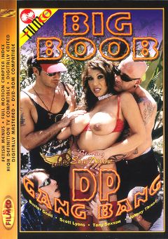 "Adult entertainment movie ""Big Boob Dp Gang Bang"" starring Buster Good, Scott Lyons & Johnny Thrust. Produced by Filmco."
