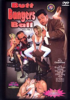 "Adult entertainment movie ""Butt Bangers Ball 2"" starring Giselle (f), Brooke Dunn & Cassie. Produced by Totally Tasteless Video."