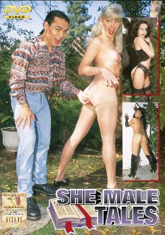"Adult entertainment movie ""Shemale Tales"" starring Gina Ryder (o), Gino Gultier & Brandy Scott. Produced by Legend."
