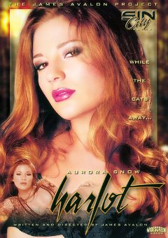 "Adult entertainment movie ""Aurora Snow's Harlot"" starring Dillan Lauren, Holly Wellin & Brittney Skye. Produced by Sin City."