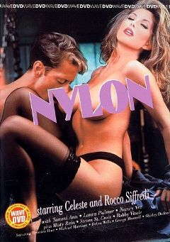 "Adult entertainment movie ""Nylon"" starring Celeste, Shirley Dickson & George Maxwell. Produced by Vivid Entertainment."