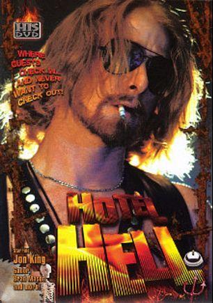 Hotel Hell, starring Brad Mason, Jon King, David Ashfield, Truman Martin, Shawn MacAvoy, Rusty The Leatherman, Joe Red, Greg Hauser, Big Jeff Robertson, B.W. McFarren and Gador, produced by HIS Video (VCA - Gay).