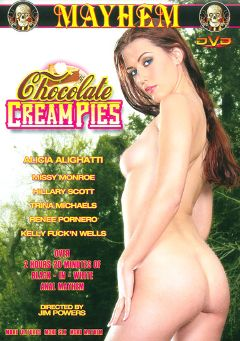 "Adult entertainment movie ""Chocolate Cream Pies"" starring Alicia Alighatti, Hillary Scott & Missy Monroe. Produced by Mayhem XXX."