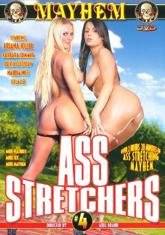 "Adult entertainment movie ""Ass Stretchers 4"" starring Olivia O'Lovely, Ariana Jollee & Lyla Lei. Produced by Mayhem XXX."