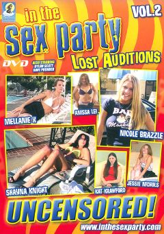 "Adult entertainment movie ""In The Sex Party Lost Auditions 2"" starring Jessie Nichols, Anissa Lei & Nicole Brazzle. Produced by Daydream Productions."