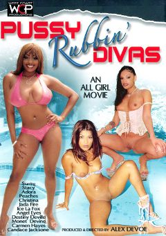 "Adult entertainment movie ""Pussy Rubbin' Divas"" starring Carmen Hayes, Candice Jackson & Ice La Fox. Produced by West Coast Productions."