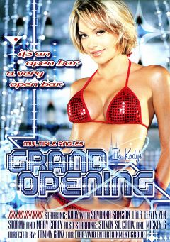 "Adult entertainment movie ""Grand Opening"" starring Desert Rose, Savannah Storm & Mickey G.. Produced by Vivid Entertainment."