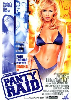 "Adult entertainment movie ""Panty Raid"" starring Dasha, Jean Val Jean & Tommy Gunn. Produced by Vivid Entertainment."